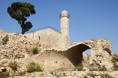 Graf van Propet Samuel in Jeruzalem israël stock foto's
