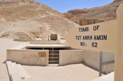Graf van Tutankhamon in Valey van de Koningen, Luxor stock fotografie
