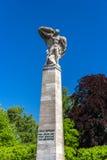 Graf Zeppelin Statue in Konstanz, Duitsland Stock Afbeeldingen