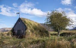 Grafarkirkja草皮教会,北冰岛8 免版税库存照片