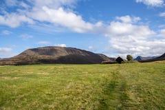 Grafarkirkja草皮教会,北冰岛7 免版税库存图片