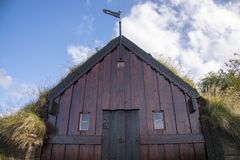 Grafarkirkja草皮教会,北冰岛2 库存图片