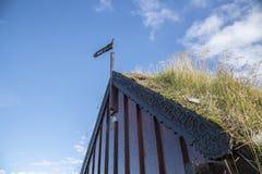 Grafarkirkja Torva-kyrka, nordliga Island 1 Arkivbilder