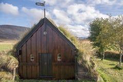 Grafarkirkja Torva-kyrka, nordliga Island 3 Royaltyfria Foton