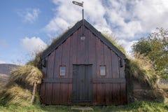 Grafarkirkja Torva-kyrka, nordliga Island 5 Arkivfoton