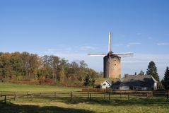 Tower mill Zeddam. The Grafelijke Korenmolen is a tower mill in Zeddam. The mill may have been built before 1441, making it the oldest windmill in existence in stock photo