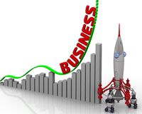 Grafen av affärstillväxt stock illustrationer