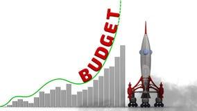 Grafen av budget- tillväxt royaltyfri illustrationer