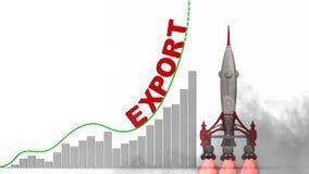 Grafen av exporttillväxt stock illustrationer