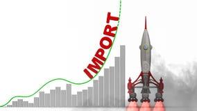 Grafen av importtillväxt stock illustrationer
