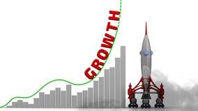 Grafen av tillväxt stock illustrationer