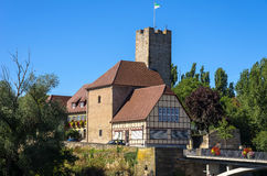 Grafenburg Castle and townhall, Lauffen, Germany Stock Photos