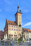 Grafeneckart - the oldest part of City Hall in Wurzburg, Germany Royalty Free Stock Images