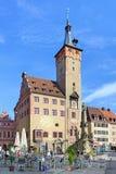 Grafeneckart - stara część urząd miasta w Wurzburg, Niemcy Obrazy Royalty Free