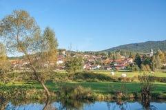 Grafenwiesen, bayerischer Wald, Deutschland lizenzfreie stockfotografie