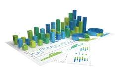 Grafer av isolerad finansiell analys - Royaltyfri Illustrationer