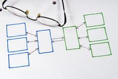 grafer för affärsdiagram Arkivfoton