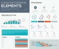 Grafer och cirkeldiagram för infographic vektordatavisualization Arkivfoton