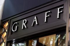 Graff Diamonds store. Detail of Graff Diamonds store in Zurich, Switzerland. It is a British multinational jeweller based in London founded at 1960 stock photography