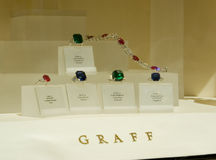 Graff Jewellery window, Bond street Royalty Free Stock Photos