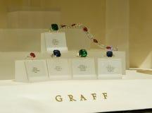 Graff Jewellery window, Bond street Royalty Free Stock Photos