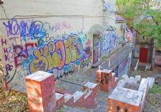 Grafffiti. Kreschatik Straße, Kyiv, Ukraine Lizenzfreie Stockfotografie