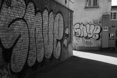 GRAFFI НА СТЕНЕ Стоковое фото RF