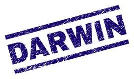 Graffiato ha strutturato DARWIN Stamp Seal illustrazione vettoriale