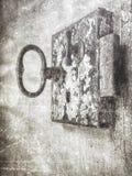 Graffio antico della serratura Immagine Stock