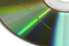 Graffio sulla superficie del CD Fotografia Stock Libera da Diritti
