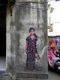 Graffit-Kunst in kleinen Wegen Mumbais, Bandra Stockfoto