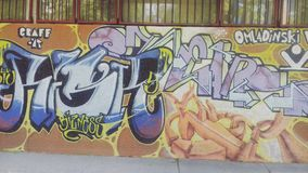 Graffite | Νόβι Σαντ | Σερβία Στοκ Εικόνα