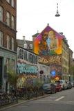 Graffiti à Copenhague Images libres de droits