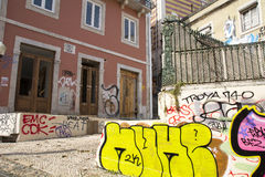 Graffiti à Lisbonne Photos stock