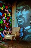 Graffiti à Montréal images libres de droits