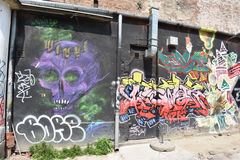 Graffiti à Varsovie image libre de droits