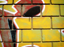 graffiti ścianę Obrazy Royalty Free