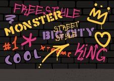 Graffiti Ścienny tło royalty ilustracja