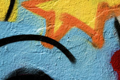 Graffiti. Close up shot of a graffito Stock Photos
