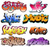 Graffiti   stock illustratie