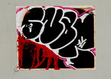 Graffiti. On the metal panel royalty free stock image