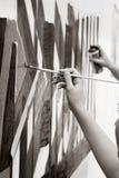 Graffiti. Painting on wall,  graffiti - modern urban culture Royalty Free Stock Photography