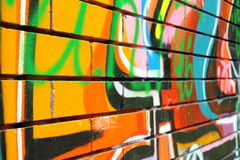 Graffiti. Bright graffiti is suitable for the background stock image