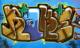 Graffiti_17. Graffiti at an university campus stock photography