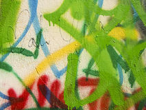 Graffiti. On the street wall in different colors Stock Image