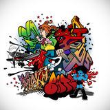 Graffiti royalty free illustration
