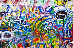 Graffiti. Colorful graffiti on the old wall Royalty Free Stock Images