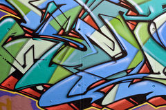Graffiti. View of a graffiti on a concrete wall Royalty Free Stock Images