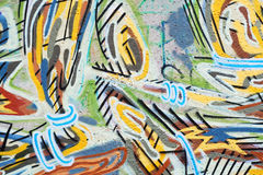 Graffiti. Colorful graffiti on public concrete wall royalty free illustration