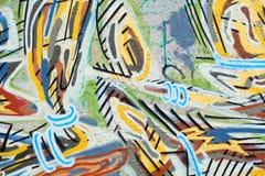 Graffiti. Colorful graffiti on public concrete wall Royalty Free Stock Images